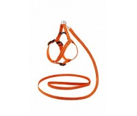 Шлея + Поводок Saival Classic Рефлекс 12мм 18-28/30-40см/120см нейлон  Оранжевый