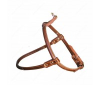 Шлея Collar WAUDOG Soft 10мм 56/71-80см кожа  Черный
