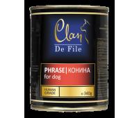 Clan De File консерва для собак 340г Конина