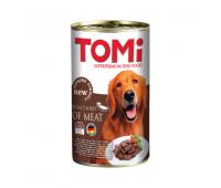 TOMI консервы 1200г с пятью видами мяса для собак