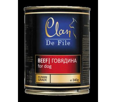 Купить Clan De File консерва для собак 340г Говядина