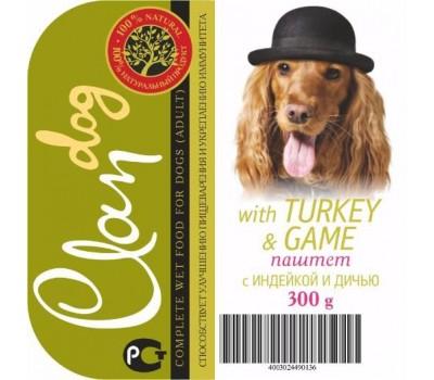 Купить Clan Dog для собак 300г паштет Индейка/Дичь
