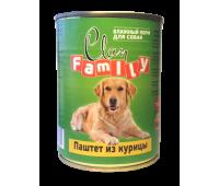 Clan FAMILY для взрослых собак 750г паштет из Курицы