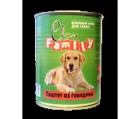 Clan FAMILY для взрослых собак 750г паштет из Говядины