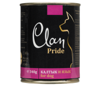 Clan Dog Pride консерва для собак 340г Калтык и Язык
