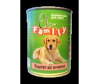Clan FAMILY для взрослых собак 750г паштет из Ягненка