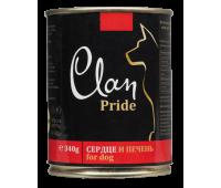 Clan Dog Pride консерва для собак 340г Сердце и Печень