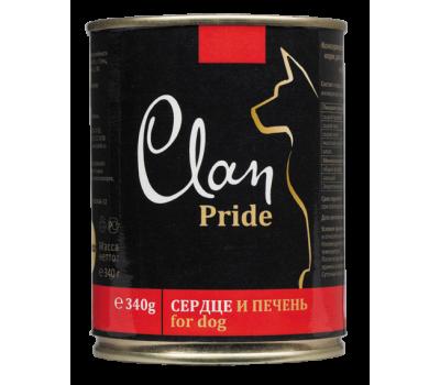 Купить Clan Dog Pride консерва для собак 340г Сердце и Печень