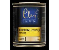 Clan De File консерва для собак 340г Курица