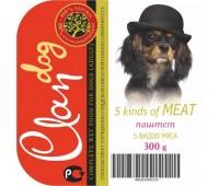 Clan Dog для собак 300г паштет 5 видов Мяса