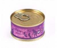 TiTBiT Настоящие Друзья консервы 135г с говядиной мясное ассорти для собак