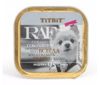 TiTBiT RAF консервы 100г с индейкой для собак