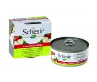 Schesir консервы для собак 150г Куриное филе с Яблоком