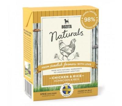 Купить Bozita Naturals консервы 370г кусочки курицы и рис в желе для собак