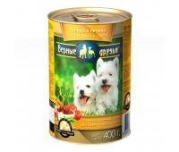 Верные друзья кусочки в соусе для щенков Курица и печень