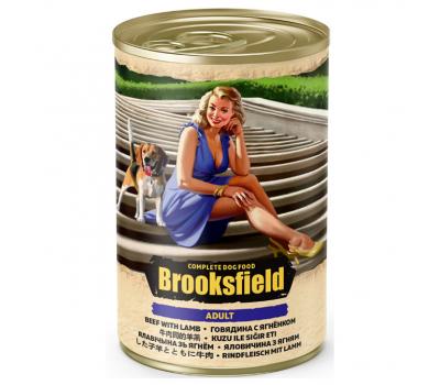 Купить Консервированный корм Brooksfield Adult Beef & Lamb -  для собак всех пород с говядиной и ягнёнком