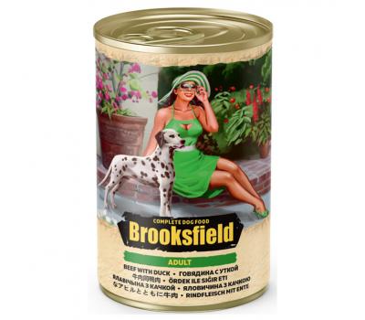 Купить Консервированный корм Brooksfield Adult Beef & Duck -  для собак всех пород с говядиной и уткой