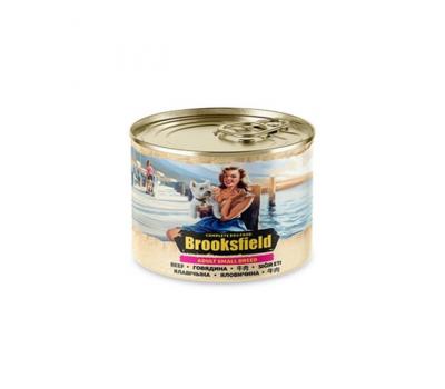 Купить Консервированный корм Brooksfield Adult Beef - для собак мелких пород с говядиной