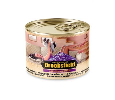 Купить Консервированный корм Brooksfield Adult Beef & Lamb - для собак мелких пород с говядиной и ягнёнком