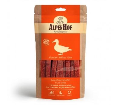 Купить AlpenHof Нарезка из филе утки для средних и крупных собак 80г