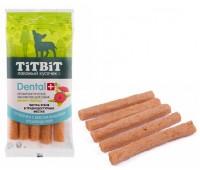 TiTBiT ДЕНТАЛ+ Трубочка с мясом индейки для мини пород