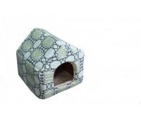 Пушок домик- будка мех №2 42*42*44см для собак