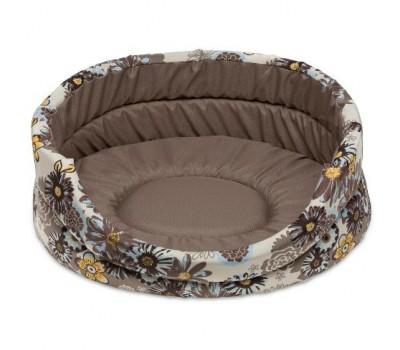 Купить COMFY BLOOM 2 лежак бежевый с ромашками 48*40*15см для собак