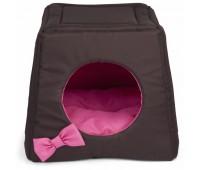 COMFY LOLA домик трансформер коричнево-розовый 43*43*39 для собак