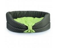 COMFY LILLY лежак с зеленой подушкой 42*34*14см XS для собак