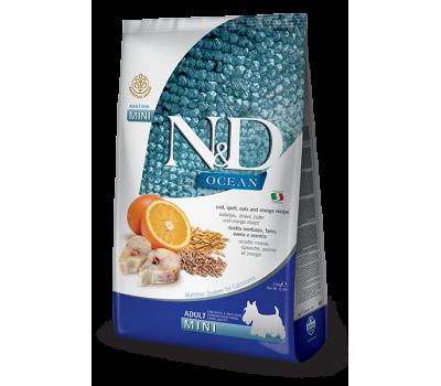 Купить Farmina N&D OCEAN с треской, спельтой, апельсином для собак крупных и средних пород 2,5кг
