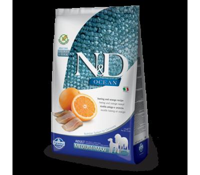 Купить Farmina N&D OCEAN ADULT MEDIUM&MAXI 2,5кг беззерновой с рыбой и апельсином для собак