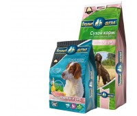 Верные друзья для взрослых собак средних пород Ягненок и рис