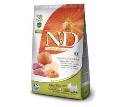 Купить Farmina N&D PUMPKIN 2,5кг беззерновой с кабаном, яблоком, тыквой для мелких пород собак
