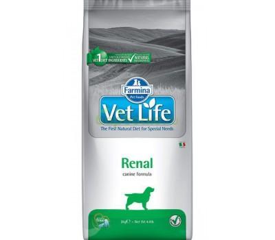 Купить Farmina VetLife Renal при почечных заболеваниях у собак  2 кг.