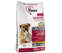 1stChoice 2,72кг с яненком, рыбой для пожилых собак с чувствительным пищеварением