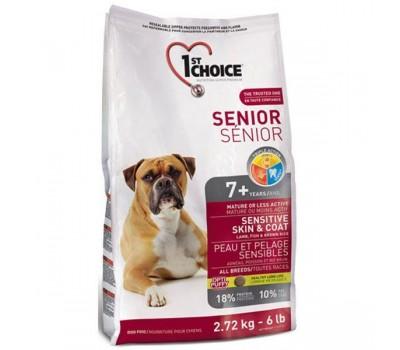 Купить 1stChoice 2,72кг с яненком, рыбой для пожилых собак с чувствительным пищеварением