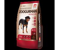 Zoogurman Active Life с индейкой для активных собак средних и крупных пород 12кг