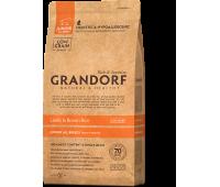 GRANDORF JUNIOR низкозерновой с ягненком и бурым рисом для щенков 1кг