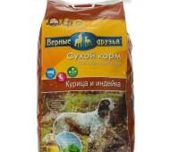 Верные Друзья 15кг+3кг в подарок с курицей и индейкой для собак