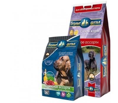 Купить Верные друзья для взрослых собак крупных пород Мясное ассорти