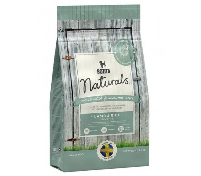Купить BOZITA Naturals с ягнёнком и рисом для собак