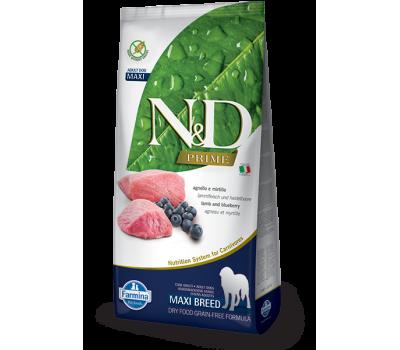 Купить Farmina N&D PRIME ADULT беззерновой, ягненок с черникой 2,5кг для собак средних и крупных пород