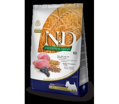 Купить Farmina N&D LowGrain ADULT MINI низкозерновой с ягненком, черникой для мелких пород 2,5кг