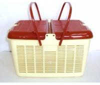 Переноска пластиковая (корзина) 26*26см Средняя Квадратная для кошек и собак DOGMAN